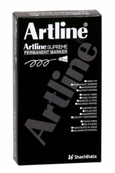 Artline Supreme Permanent Marker Black BOX12 107101