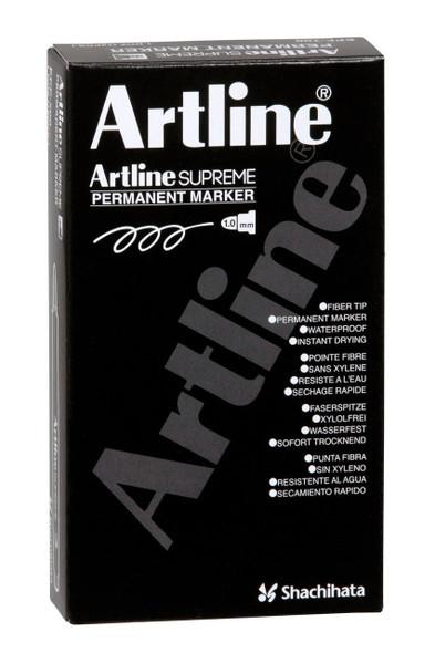 Artline Supreme Permanent Marker Red BOX12 107102
