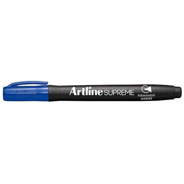 Artline Supreme Permanent Marker Blue BOX12 107103