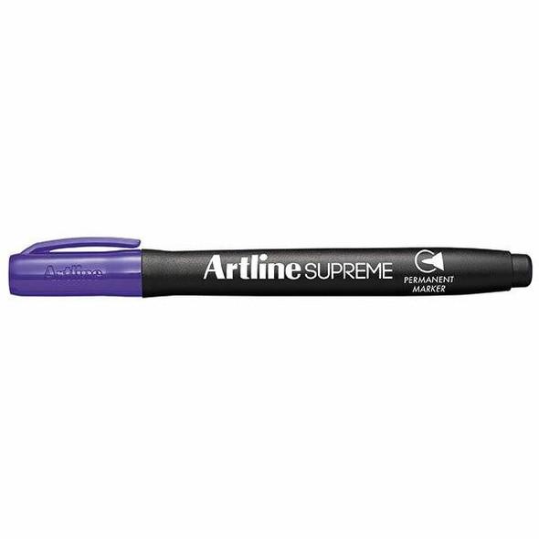 Artline Supreme Permanent Marker Purple BOX12 107106