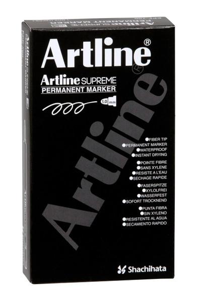 Artline Supreme Permanent Marker Yellow BOX12 107107