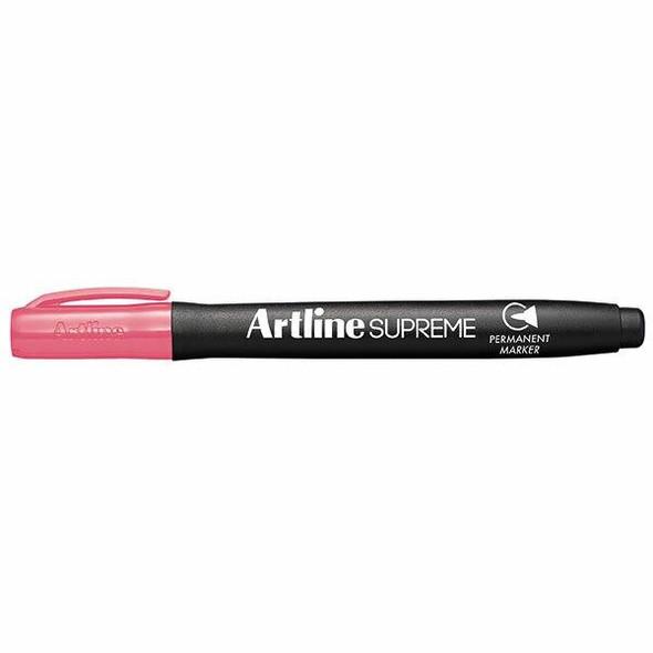 Artline Supreme Permanent Marker Pink BOX12 107109