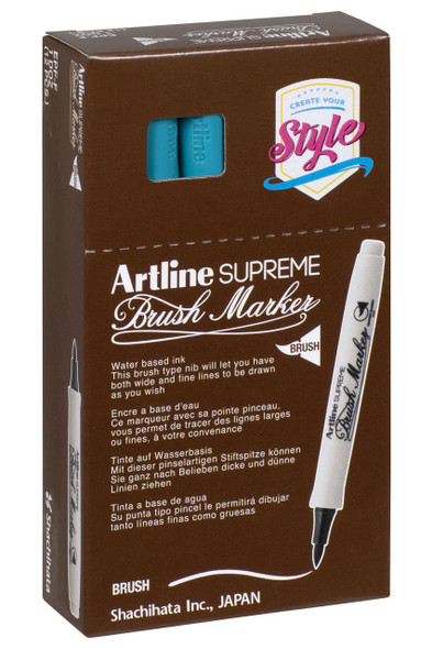 Artline Supreme Brush Marker Turquoise BOX12 108124