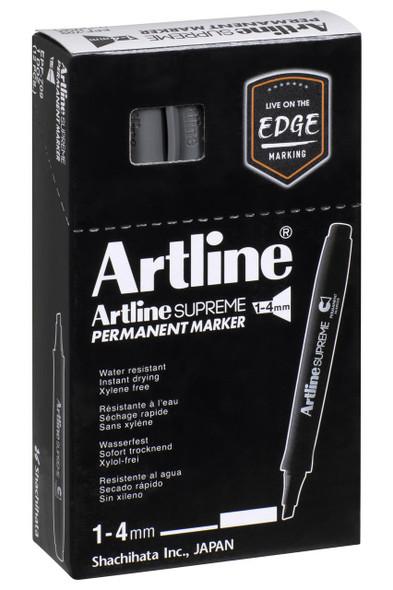 Artline Supreme Permanent Marker Chisel Grey BOX12 109111