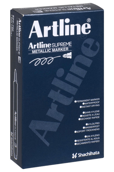 Artline Supreme Metallic Marker Silver BOX12 109932