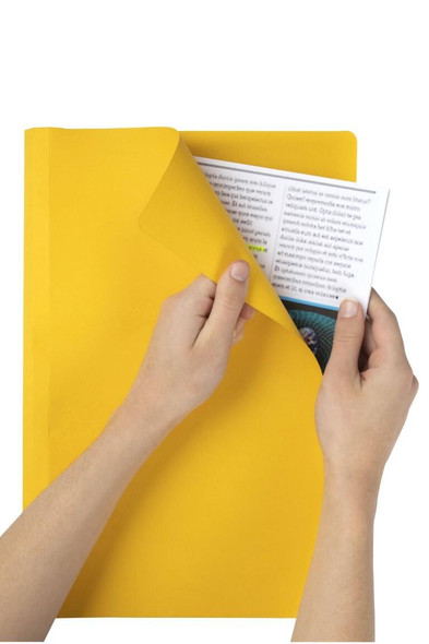 Marbig Manilla Folders Foolscap Yellow Box100 1108105