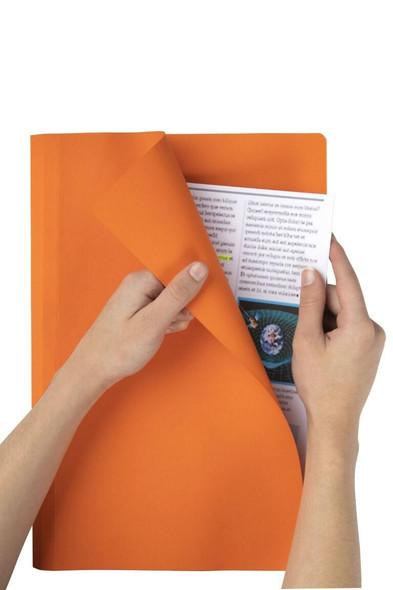 Marbig Manilla Folders Foolscap Orange Box100 1108106