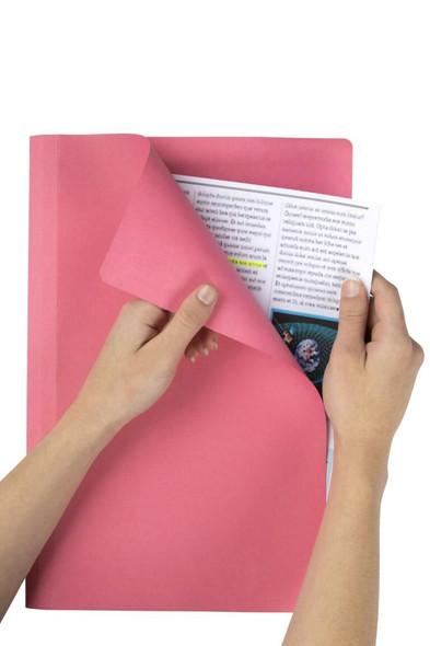Marbig Manilla Folders Foolscap Pink Box100 1108109