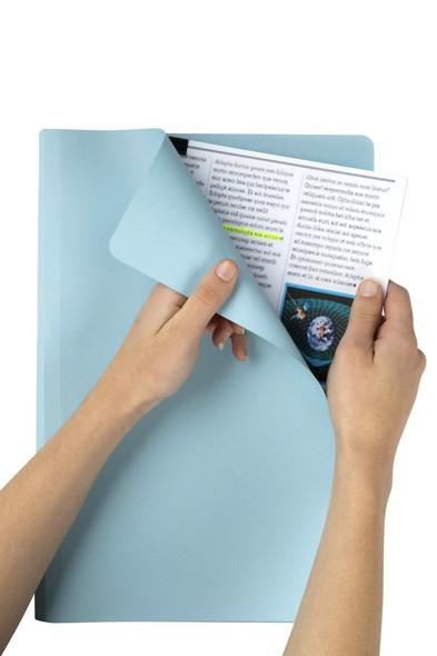Marbig Manilla Folders Foolscap L/Blue Box100 1108117