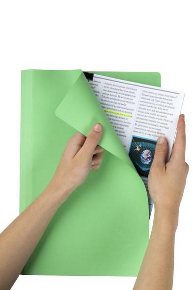 Marbig Manilla Folders Foolscap L/Green Box100 1108129