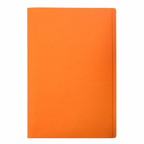 Marbig Manilla Folders Foolscap Orange Pack20 X CARTON of 5 1108606