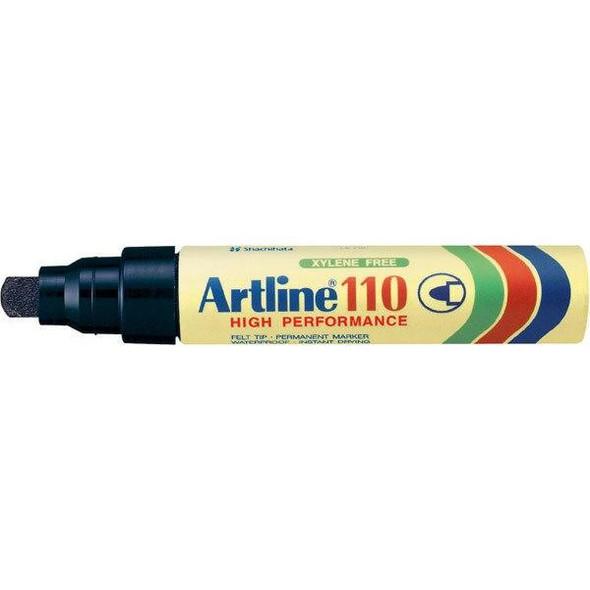 Artline 110 Permanent Marker 4mm Bullet Nib Black BOX6 111001