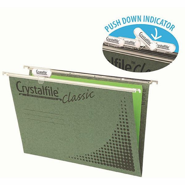 Crystalfile Complete Suspension Files A4 Classic Pack 20 X CARTON of 5 11126CY
