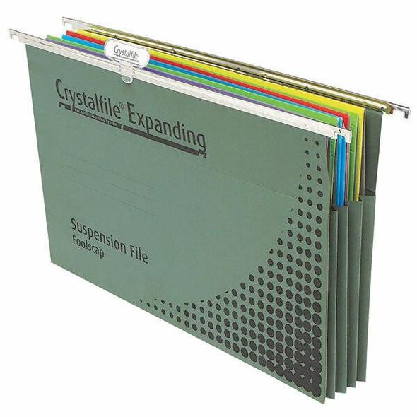 Crystalfile Complete Suspension Files Foolscap Expanding Pack 10 X CARTON of 5 111310Y