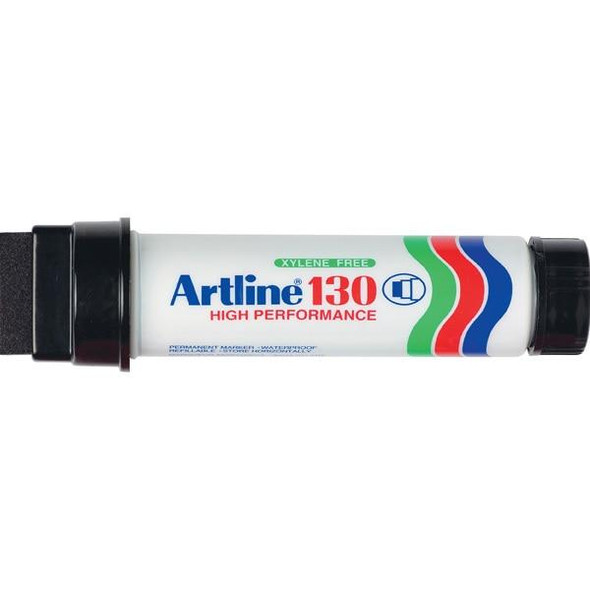 Artline 130 Permanent Marker 30mm Wedge Nib Black BOX6 113001