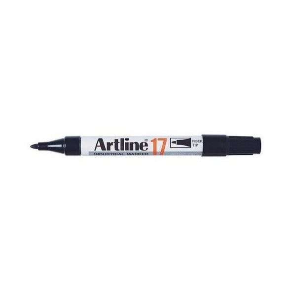 Artline 17 Industrial Permanent Marker 1.5mm Bullet Nib Black BOX12 117001