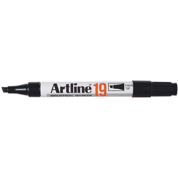 Artline 19 Industrial Permanent Marker 5mm Chisel Nib Black BOX12 119001