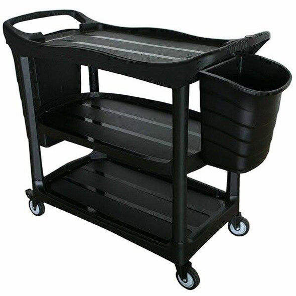 Cleanlink Utility Trolley With Buckets Black 12019A