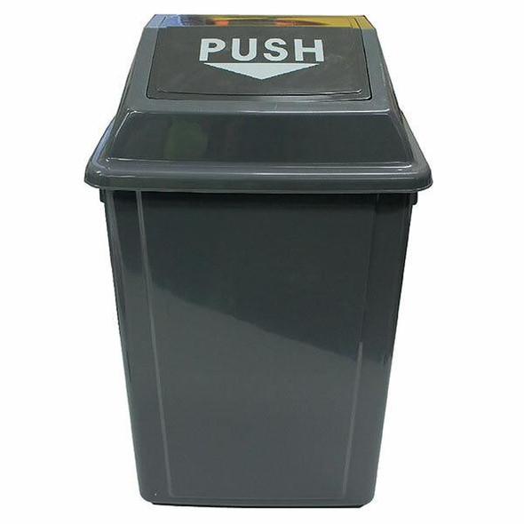 Cleanlink Rubbish Bin With Bullet Lid 60 Litre Grey 12056