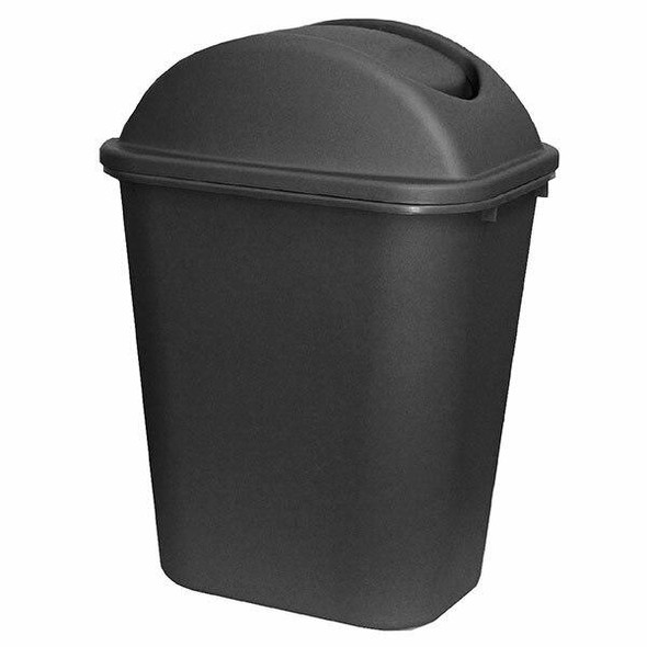 Cleanlink Dustbin With Lid 24 Litre Grey 12069