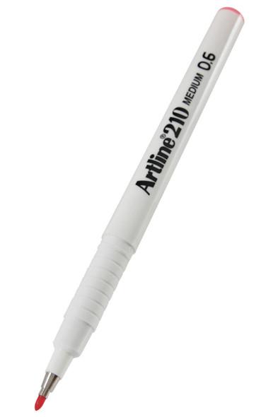 Artline 210 Fineliner Pen 0.6mm Pink BOX12 121009
