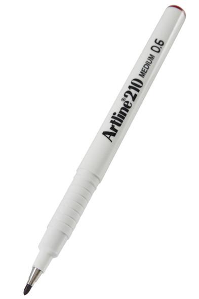 Artline 210 Fineliner Pen 0.6mm Dark Red BOX12 121012