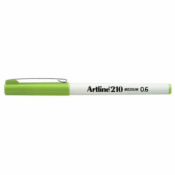 Artline 210 Fineliner Pen 0.6mm Lime Green BOX12 121014