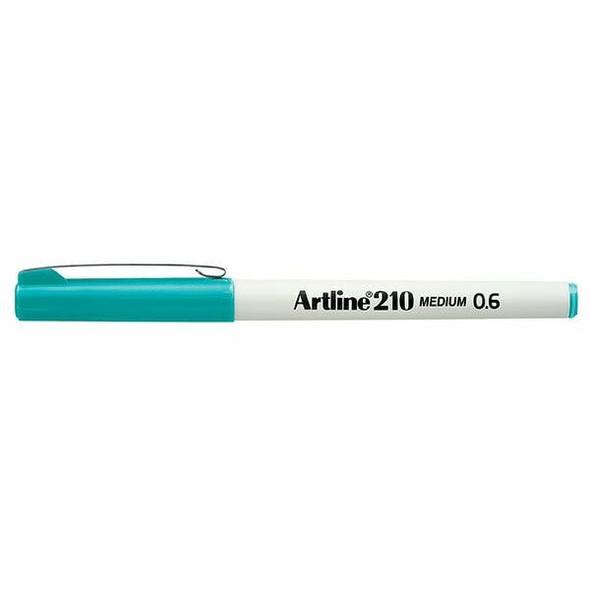 Artline 210 Fineliner Pen 0.6mm Turquoise BOX12 121023