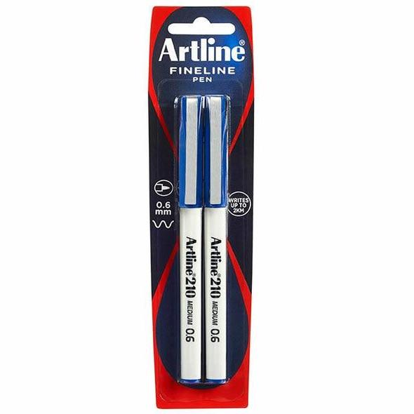 Artline 210 Fineliner Blue X CARTON of 6 121067