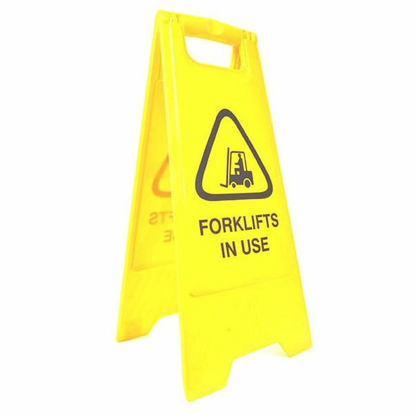 Cleanlink Safety Sign Forklifts In Use Yellow 12159