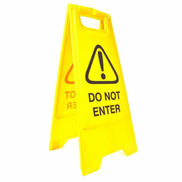Cleanlink Safety Sign Do Not Enter Yellow 12161