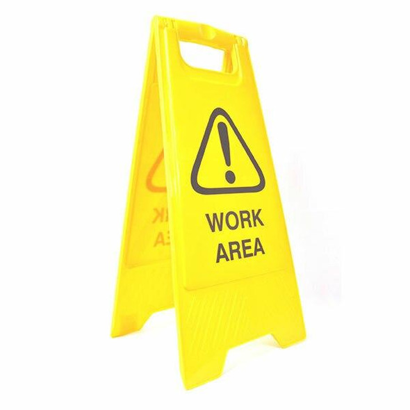 Cleanlink Safety Sign Work Area Yellow 12162