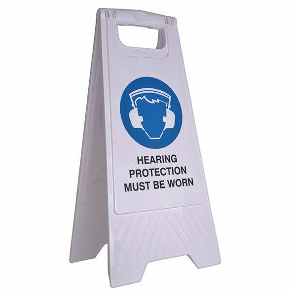 Cleanlink Safety Sign Hearing Protection White 12164