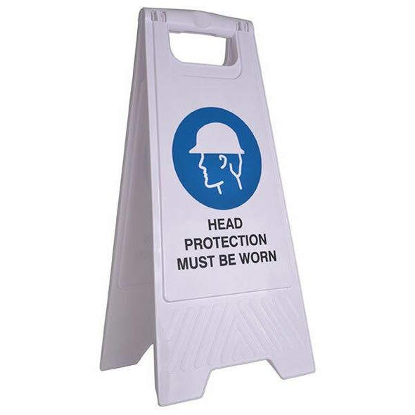 Cleanlink Safety Sign Head Protection White 12165