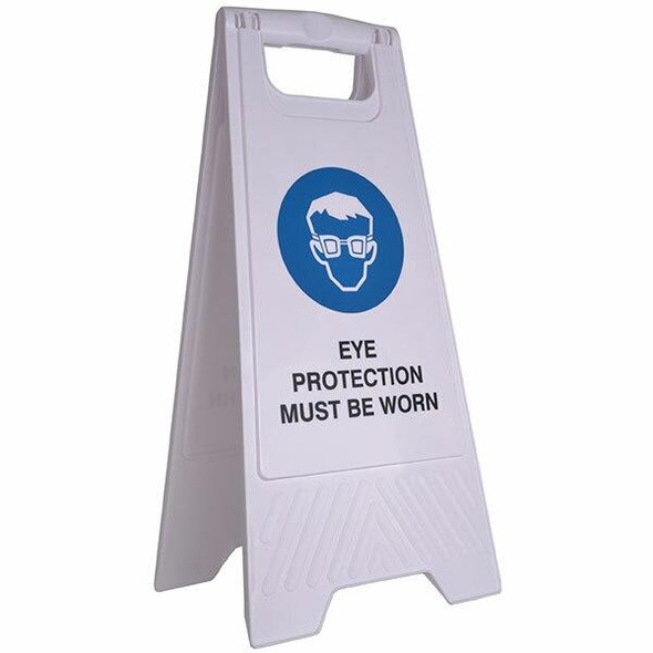 Cleanlink Safety Sign Eye Protection Yellow 12166