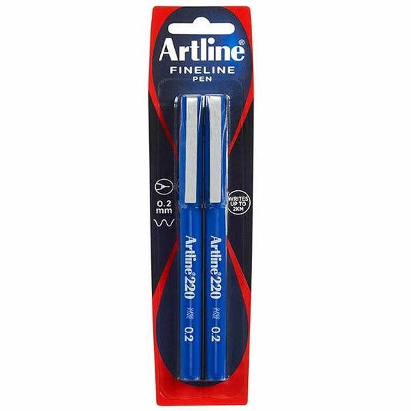 Artline 220 Fineliner Blue X CARTON of 6 122068