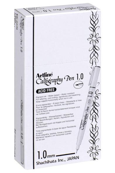 Artline 241 Calligraphy Pen 1mm Black BOX12 124101