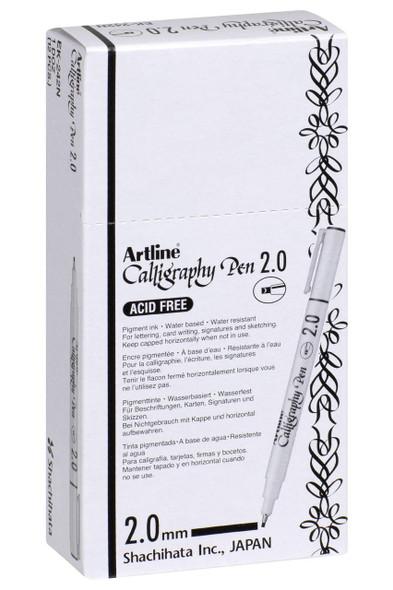 Artline 242 Calligraphy Pen 2mm Black BOX12 124201