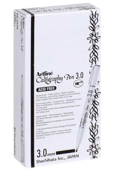 Artline 243 Calligraphy Pen 3mm Black BOX12 124301