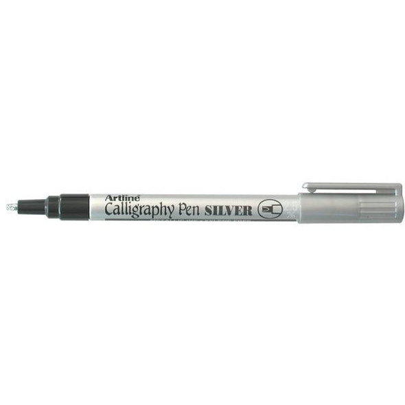 Artline 993 Calligraphy Marker Metallic 2.5mm Silver BOX12 1243032