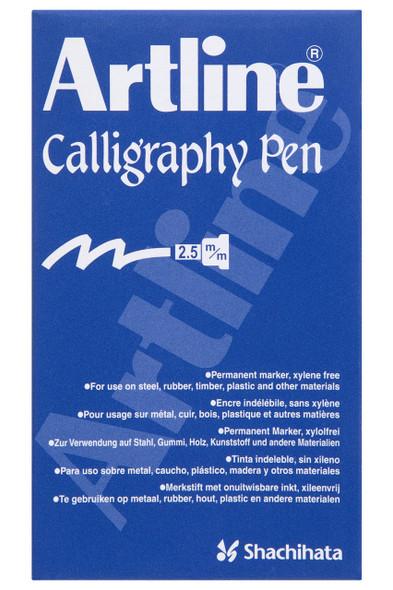 Artline 993 Calligraphy Marker Metallic 2.5mm Assorted BOX12 1243050