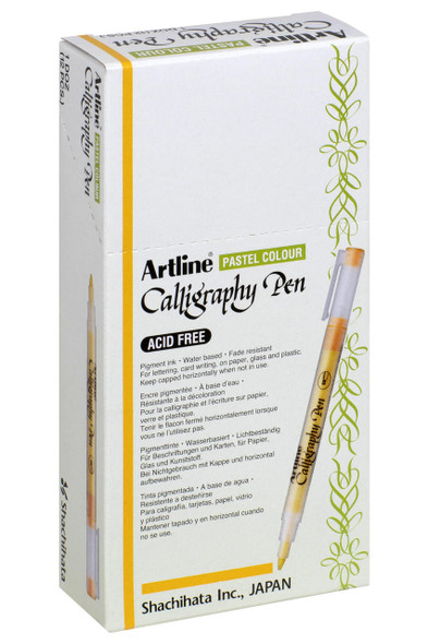 Artline Calligraphy Pen 2.0mm Pastel Lime Green BOX12 125314