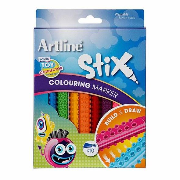 Artline Stix Colouring Marker Pack10 130072