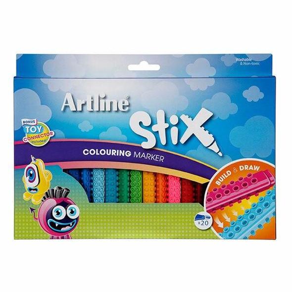 Artline Stix Colouring Marker Pack20 130073