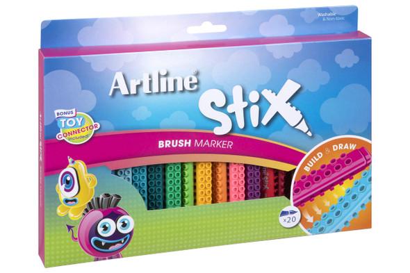 Artline Stix Brush Marker Pack20 131073