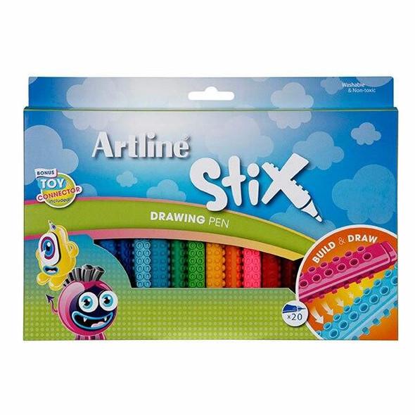 Artline Stix Drawing Pen Pack20 132073
