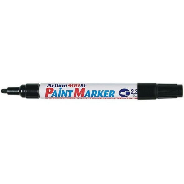 Artline 400 Permanent Paint Marker 2.3mm Bullet Black BOX12 140001