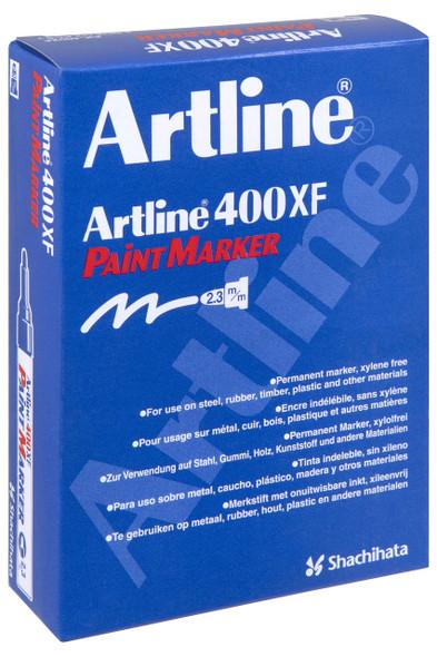 Artline 400 Permanent Paint Marker 2.3mm Bullet Red BOX12 140002