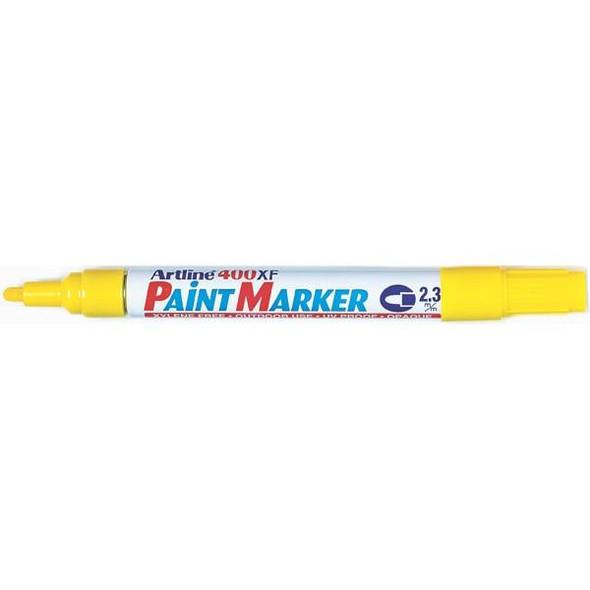 Artline 400 Permanent Paint Marker 2.3mm Bullet Yellow BOX12 140007