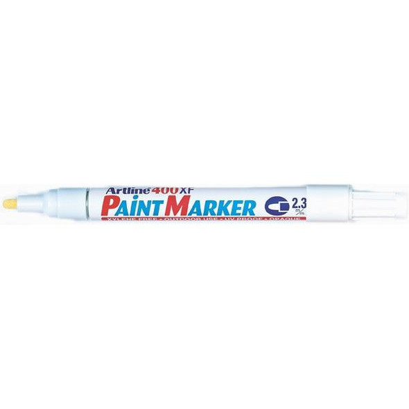 Artline 400 Permanent Paint Marker 2.3mm Bullet White BOX12 140033